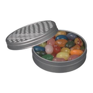 Modelo de lunar del blanco gris de carbón de leña jarrones de caramelos