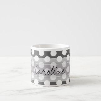 Modelo de lunar del blanco gris de carbón de leña taza espresso
