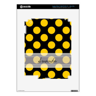 Modelo de lunar elegante amarillo negro del iPad 3 pegatina skin