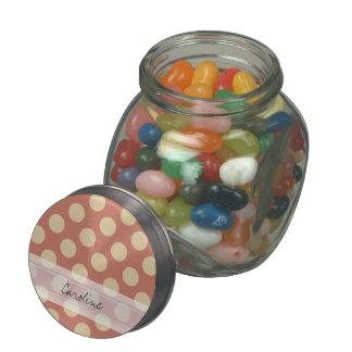 Modelo de lunar elegante beige del rosa de color jarras de cristal jelly bely
