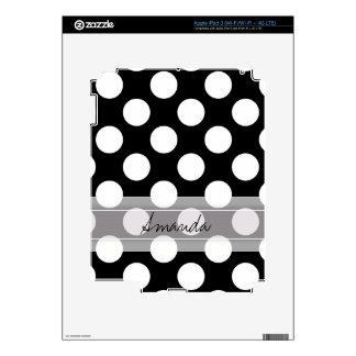 Modelo de lunar elegante blanco negro del iPad 3 skin