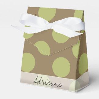 Modelo de lunar elegante de color topo del verde caja para regalo de boda