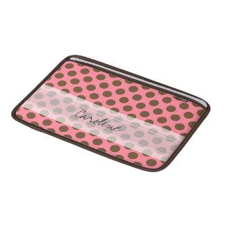 Modelo de lunar elegante lindo rosado de Brown del Fundas Macbook Air