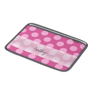 Modelo de lunar elegante rosado magenta del funda macbook air