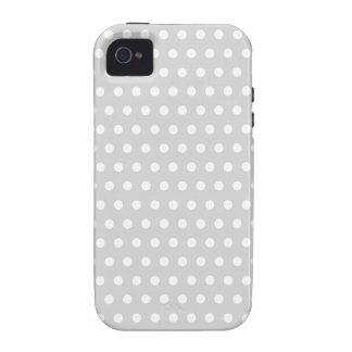 Modelo de lunar gris claro y blanco iPhone 4/4S funda