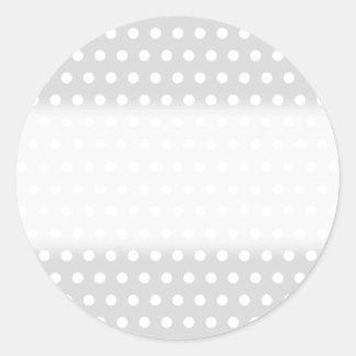 Modelo de lunar gris claro y blanco pegatinas redondas