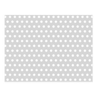 Modelo de lunar gris claro y blanco tarjetas postales