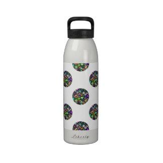 Modelo de lunar Jeweled colorido y reluciente Botella De Agua Reutilizable