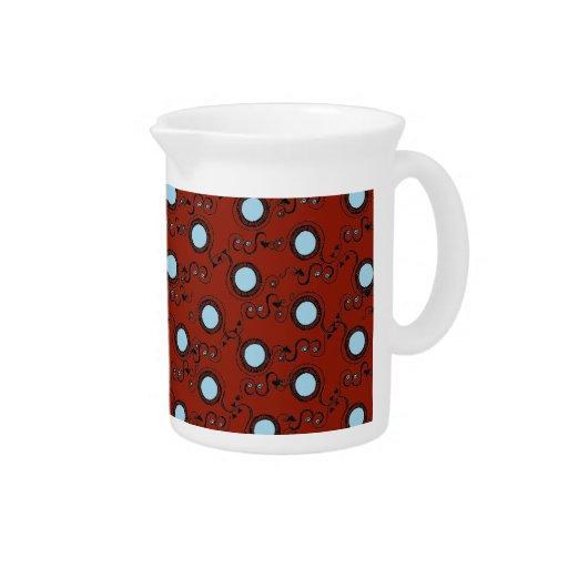 Modelo de lunar marrón rojo oscuro jarra de beber