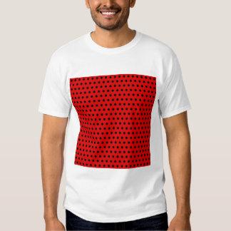 Modelo de lunar rojo y negro. Manchado Camisas