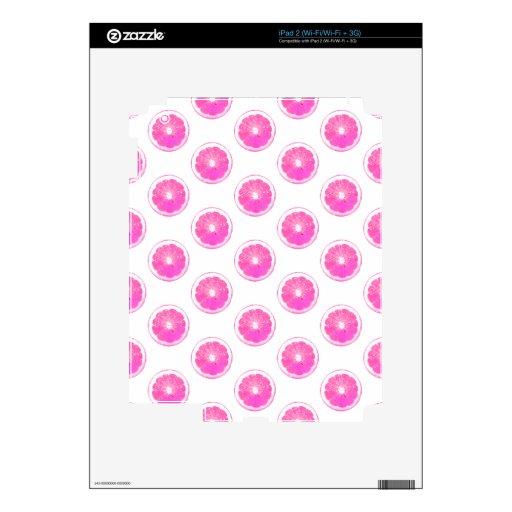 Modelo de lunar rosado de la limonada calcomanías para el iPad 2