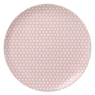 Modelo de lunar rosado del vintage plato de comida