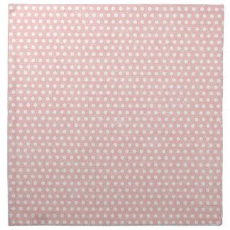 Modelo de lunar rosado del vintage servilletas de papel