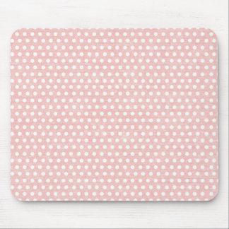 Modelo de lunar rosado del vintage tapetes de raton