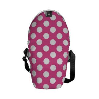 Modelo de lunar rosado fresco bolsas de mensajeria