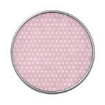 Modelo de lunar rosado y blanco. Manchado