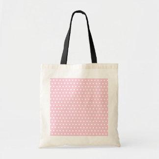 Modelo de lunar rosado y blanco. Manchado Bolsa Tela Barata