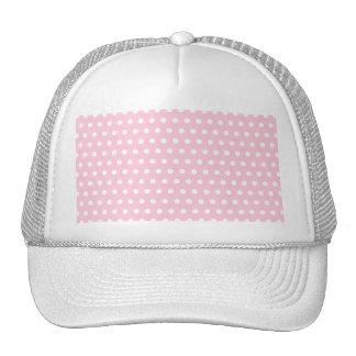 Modelo de lunar rosado y blanco. Manchado Gorras De Camionero