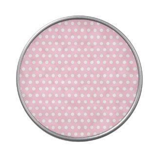 Modelo de lunar rosado y blanco Manchado