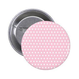 Modelo de lunar rosado y blanco. Manchado Pin