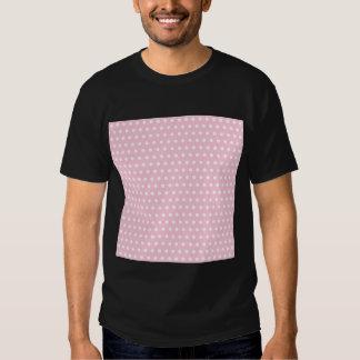 Modelo de lunar rosado y blanco. Manchado Remera
