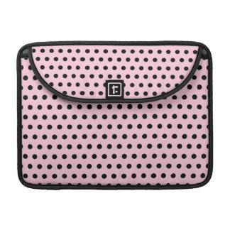 Modelo de lunar rosado y negro. Manchado Fundas Para Macbook Pro