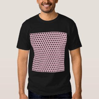 Modelo de lunar rosado y negro. Manchado Polera