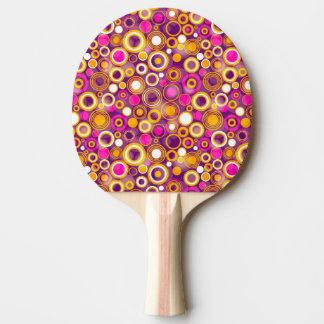 Modelo de lunar violeta pala de tenis de mesa
