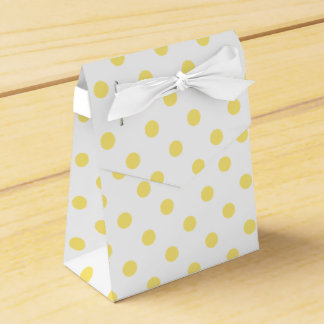 Modelo de lunares amarillo caja para regalo de boda