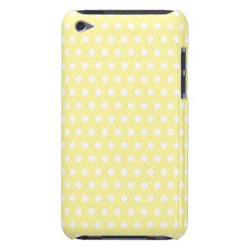Modelo de lunares amarillo. Manchado iPod Case-Mate Fundas