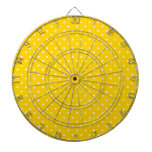 Modelo de lunares amarillo y blanco tablero dardos