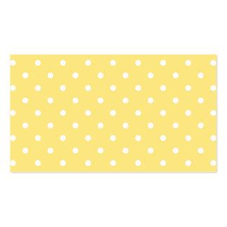 Modelo de lunares amarillo y blanco tarjeta de visita