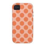 Modelo de lunares anaranjado del verano de la Case-Mate iPhone 4 fundas