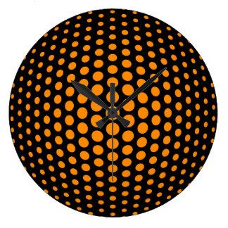 Modelo de lunares anaranjado oscuro del ojo de reloj redondo grande