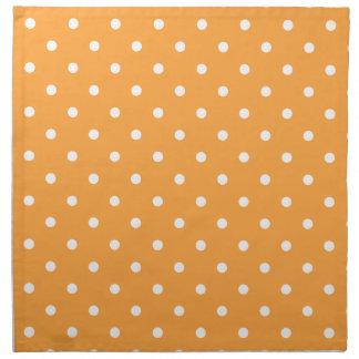 Modelo de lunares anaranjado servilletas imprimidas