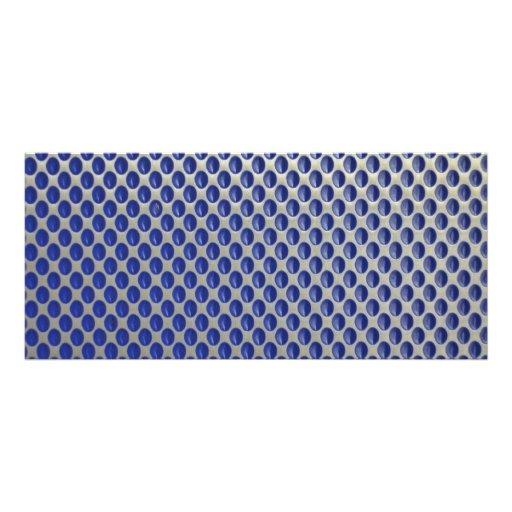 Modelo de lunares azul de plata abstracto del meta tarjetas publicitarias a todo color