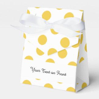 Modelo de lunares blanco amarillo cajas para regalos de fiestas