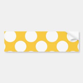 Modelo de lunares blanco amarillo moderno pegatina de parachoque