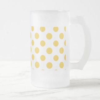 Modelo de lunares blanco amarillo tazas de café
