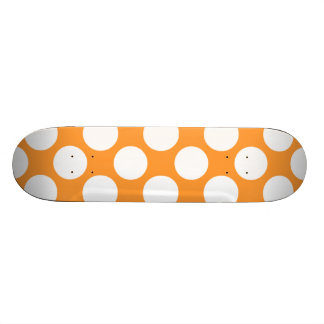 Modelo de lunares blanco anaranjado moderno tabla de skate