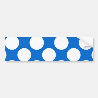 Modelo de lunares blanco azul moderno pegatina de parachoque