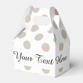 Modelo de lunares blanco beige caja para regalos de fiestas