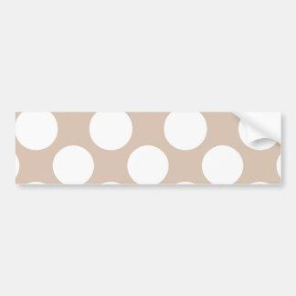 Modelo de lunares blanco beige moderno etiqueta de parachoque