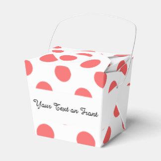 Modelo de lunares blanco coralino cajas para regalos