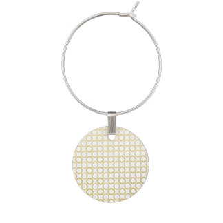 Modelo de lunares blanco de la hoja de oro identificador de copa