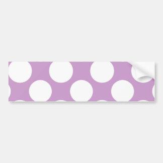 Modelo de lunares blanco de la lila moderna etiqueta de parachoque