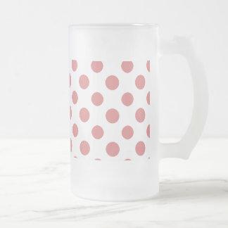 Modelo de lunares blanco del melocotón tazas de café