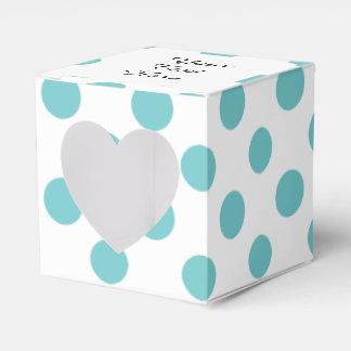 Modelo de lunares blanco del trullo cajas para regalos de fiestas