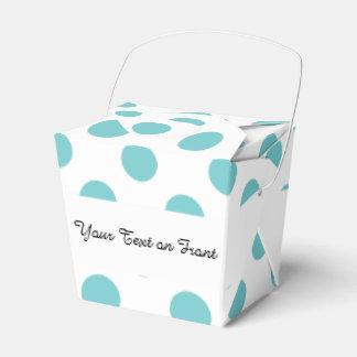 Modelo de lunares blanco del trullo caja para regalos