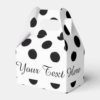 Modelo de lunares blanco negro caja para regalo de boda